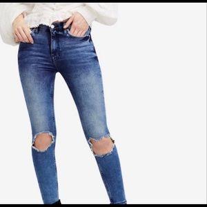 Free People Busted Knee Skinny Jeans